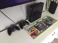 Xbox 360 Go 500GB latest model 2 controller and games