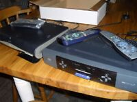 TWO USED SKY BOXS WITH REMOTES & CABLE & CARDS