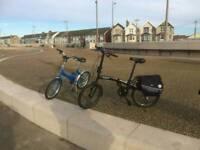 Fold down push bikes