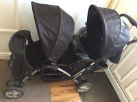 Graco double pram & car seat