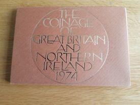 PROOF SET 1974 COINS
