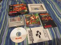 DONKEY KONG COUNTRY SUPER NINTENDO GAME COMPLETE WITH OFFICIAL SOUNDTRACK PAL IN EXCELLENT CONDITION