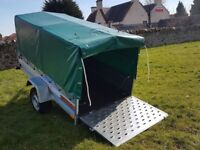 New Trailer 7.7 x 4.1 with ramp cover £990 inc vat