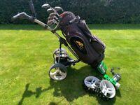 Motorcaddy series 3 digital. Powakaddy bag and Set of clubs