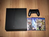 PS4 500gb with 3 games - Controller - Leads - Good as New PlayStation 4
