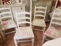 Beautiful Shabby Chic Dining Table and Chairs/Cath Kidston