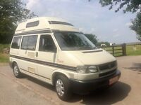 SUPERB 2000 VW T4 AUTOSLEEPER TRIDENT FSH (18 STAMPS) RECENT CAM BELT AND WATER PUMP PRICED TO SELL