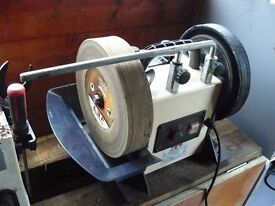 Used Jet Slow Speed Wet Sharpener JSSG-10 with leather honing wheel.