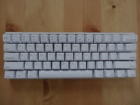 Almost new mechanical keyboard - Vortex Pok3r, white, Ansi US layout, Cherry MX Clear
