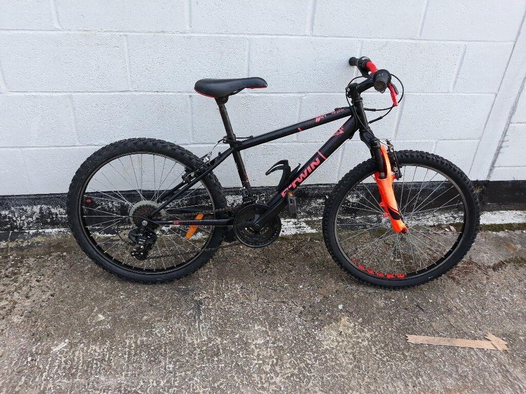 B Twin Rockrider 500 Kids 24 Inch Mountain Bike 8 12