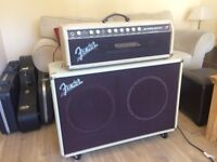 Fender Super-Sonic 60 Valve Head 2x12 Cabinet *UPGRADED SPEAKERS* 60th Anniversary