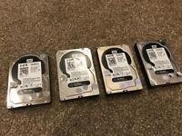 4 x WD Black 4TB performance Desktop Hard Drive (WD4003FZEX)
