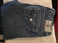 True religion jeans genuine with Swarovski crystals size 26