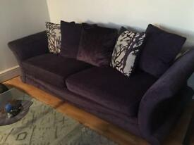 DFS 4 seater sofa with matching foot stool and chaise