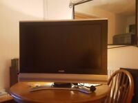 "32"" Sharp HD LCD TV. Remote included. 2x HDMI ports, 2x Scart ports"