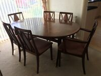 Dining table with 6 chairs, FREE