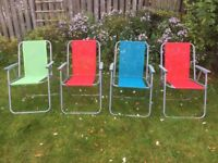 Childrens' camping chairs (4)