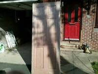 """MAHOGANY/WALNUT DOOR 32INCH WIDE X 6'6"""" HIGH + DOOR FURNITURE £80"""