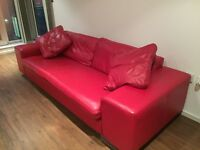 Stylish Modern Leather Designer Sofa Absolute Bargain