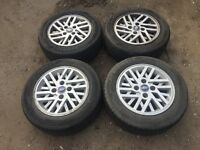 "For sale - Ford Fiesta 14"" alloy wheels - nearly new tyres"