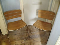 PAIR OF CHAIRS,SUITABLE FOR INDOOR / OUTDOOR USE.