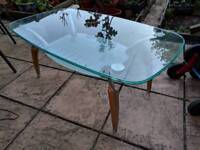 Glass Stylish 2-Level Coffee Table (Delivery Available)