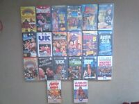 Job lot of WWF Wrestling videos