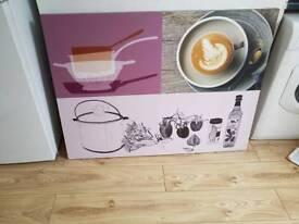 Beautiful kitchen canvas