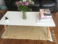 Cute white coffee table