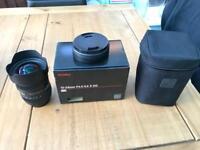 Sigma 12-24 mm lens