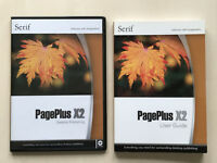 Serif PagePlus X2 Destop Publishing Software DVD's & User Guide