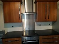 kitchen cupboards, worktops and appliances