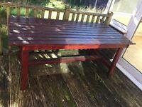 Garden decking table