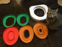 Litter Kwitter -Effective toilet training for cats for you to go litter free (Excellent Condition)