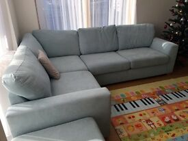 Very new and comfortable bed sofa with footstool