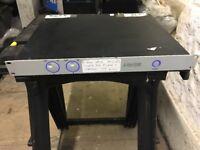 D-Lite 1200 watt power amplifier. ( UK made ) by METEOR with heavy duty flight case