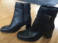 Ladies Real Leather Ankle Boots - Size 8