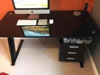 John Lewis glass desk for sale