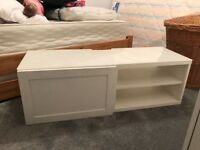 IMMACULATE WHITE IKEA BESTA range TV bench. Only 6 months old
