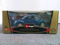 Boxed Volkswagen New Shaped Beetle Collectible Scale Model.