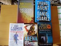 Books, fiction, hardback and paperback