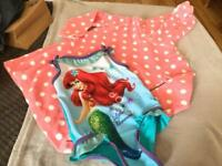 child's swimming costume and towel dress age 2-3 years