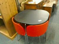 Retro black and red table and 4 Chairs #31899 £59