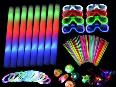 250 Pieces LED Light Up Foam Sticks Set Flashing Glow in the Dark Party Supplies](Glow In The Dark Foams)