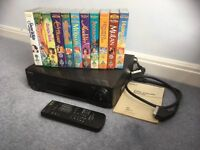 Sony video recorder with collection of 11 Disney movies