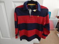 Boys top and jumper, size 8 - Ralph Lauren, Joules