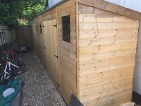 12x 4 wooden lean to shed for sale. Great condition, only 6 months old (2 available).