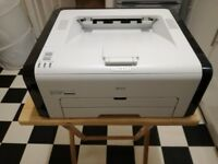 Ricoh SP 211 USB Laser Printer, Manuals, CD-ROM, and cables included.