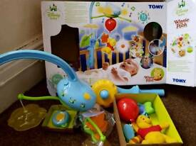 Winnie the pooh dream clouds deluxe cot mobile