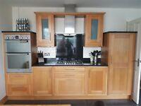 kITCHEN FOR SALE SOLID OAK IN FRAME GRANITE WORK SURFACE
